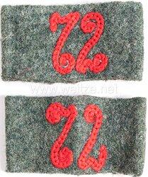 Wehrmacht Heer Paar Überschübe für Schulterklappen Mannschaft Artillerie Regiment