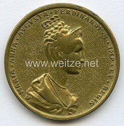 Österreich / K.u.K. Monarchie Nicht tragbare Medaille anlässlich der Krönung Maria Annas von Savoyen zur Königin von Böhmen in Prag 1836 .