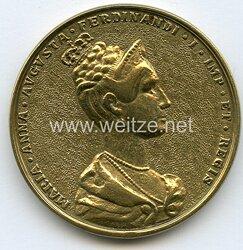 Österreich / K.u.K. Monarchie - Nicht tragbare Medaille anlässlich der Krönung Maria Annas von Savoyen zur Königin von Böhmen in Prag 1836 .