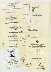 Luftwaffe - Dokumentengruppe eines späteren Feldwebels der 1.(F)/Aufklärungsgruppe 124