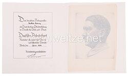 III. Reich - großes Schmuckblatt der Deutschen Arbeitsfront (DAF )