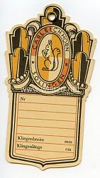 III. Reich Herstelleretikett für Blankwaffen von