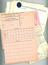 III. Reich - National-Sozialistischer Lehrerbund - Großes Konvolut an Dokumenten zur Deutschlandfahrt bulgarischer Erzieher 1941 und einem deutsch-rumänischen Gemeinschaftslager 1942.