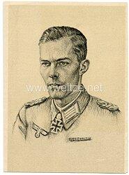 Heer - Propaganda-Postkarte von Ritterkreuzträger Harald v. Hirschfeld