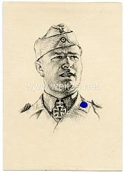 Heer - Propaganda-Postkarte von Ritterkreuzträger Kurt Kirchner
