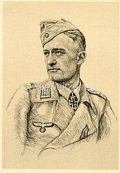 Heer - Propaganda-Postkarte von Ritterkreuzträger Klaus Wagner