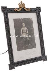 Kaiser Wilhelm II. - großer offizieller Geschenkbilderrahmen 1918.
