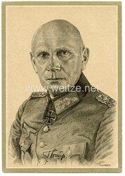 Heer - Propaganda-Postkarte von Ritterkreuzträger Generaloberst Strauß