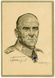Heer - Propaganda-Postkarte von Ritterkreuzträger Generaloberst von Falkenhorst