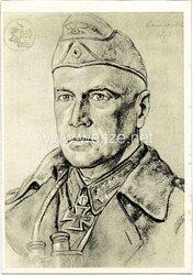 Heer - Willrich farbige Propaganda-Postkarte - Ritterkreuzträger Generalleutnant Crüwell