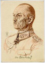 Heer - Willrich farbige Propaganda-Postkarte - Ritterkreuzträger Generaloberst v. Rundstedt