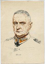 Heer - Willrich farbige Propaganda-Postkarte - Ritterkreuzträger Generaloberst Kurt Haase