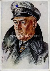 "Heer - Willrich farbige Propaganda-Postkarte - "" Ein Regimentskommandeur """