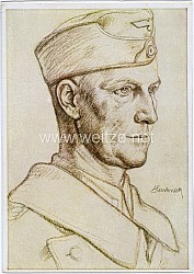 """Heer - Willrich farbige Propaganda-Postkarte - """" Bildnis eines Generalstabsoffiziers """""""