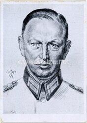 Heer - Willrich farbige Propaganda-Postkarte - Ritterkreuzträger Oberst Buschenhagen
