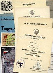Heer - Dokumentengruppe eines Angehörigen der 8. Panzer-Division