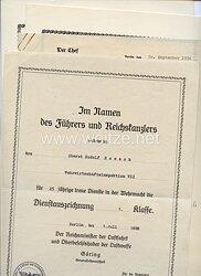 Luftwaffe - Urkundentrio für einen späteren Oberst der Wehrwirtschaftsinspektion VII in München