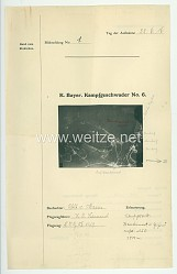 Fliegerei 1. Weltkrieg - Königl.Bayer. Kampfgeschwader No. 6 - Bildmeldung No. 1 vom 22.6.1916