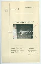 Fliegerei 1. Weltkrieg - Königl.Bayer. Kampfgeschwader No. 6 - Bildmeldung No. 2 vom 22.6.1916
