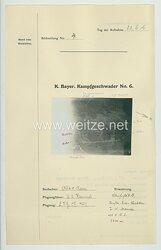 Fliegerei 1. Weltkrieg - Königl.Bayer. Kampfgeschwader No. 6 - Bildmeldung No. 4 vom 22.6.1916