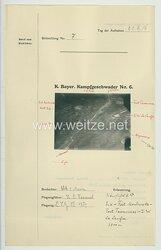 Fliegerei 1. Weltkrieg - Königl.Bayer. Kampfgeschwader No. 6 - Bildmeldung No. 7 vom 22.6.1916