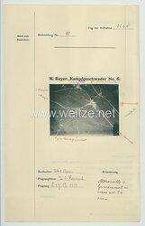Fliegerei 1. Weltkrieg - Königl.Bayer. Kampfgeschwader No. 6 - Bildmeldung No. 10 vom 22.6.1916
