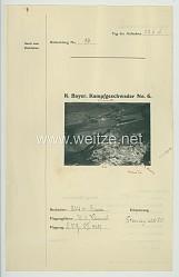 Fliegerei 1. Weltkrieg - Königl.Bayer. Kampfgeschwader No. 6 - Bildmeldung No. 14 vom 22.6.1916