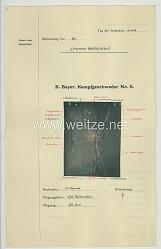 Fliegerei 1. Weltkrieg - Königl.Bayer. Kampfgeschwader No. 6 - Bildmeldung No. 86 vom 16.11.1916