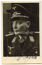 Luftwaffe - Originalunterschrift von Ritterkreuzträger Oberleutnant Gerhard Renz