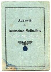 III. Reich - Ausweis der Deutschen Volkslistefür eine Frau des Jahrgangs 1920 aus Hammermühle