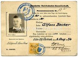 Deutsche Reichsbahn - Personenausweis