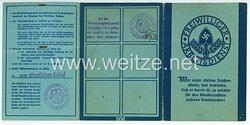 Freiwilliger Arbeitsdienst Gau 25 ( Hessen-Süd ) - Arbeitsdienstpaß