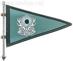 III. Reich Reichsbund Deutsche Jägerschaft ( RDJ ): Stander für Dienstfahrzeuge