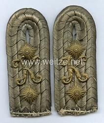 Preußen Paar Schulterstücke für einen Leutnant des Kraftfahr-Bataillons, Garde-Korps