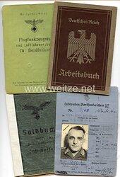 Luftwaffe - Dokumentengruppe für einen späteren Feldwebel der Luftnachrichtenstelle Hamburg-Fuhlsbüttel