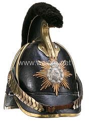 Sachsen Helm Modell 1867 für Mannschaften im Königlich Sächsischen Garde-Reiter-Regiment (1. schweres Regiment)