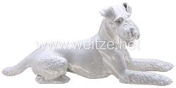 SS Porzellanmanufaktur Allach - Foxl liegend
