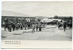 Postkarte Kolonie Deutsch Südwestafrika Windhuk Abrückende Maultierkolonnen (Namibia)