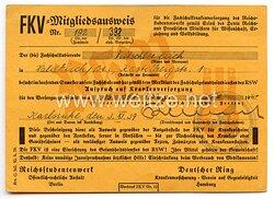 Reichsstudentenwerk - FKV-Mitgliedsausweis