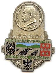 """ADAC ( Allgemeiner Deutscher Automobil-Club ) - nichttragbare Teilnehmerplakette - """" Erinnerung an Südthür. Hindenburg-Parade 19.9.1930 """""""