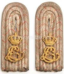 Hessen Paar Schulterstücke für einen Leutnant im Leibgarde Infanterie Regt. Nr. 115