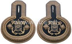 Preußische Marine Paar Epauletten für einen Garnisonsverwaltungsdirektor als Rechnugnsrat