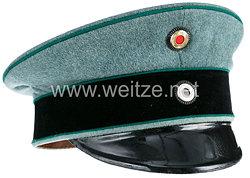 Preußen Schirmmütze feldgrau für einen Offizier im Garde-Schützen-Bataillon