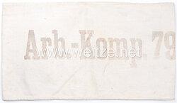 """1. Weltkrieg Armbinde für Kriegsgefangene """"Arb-Komp 79"""""""