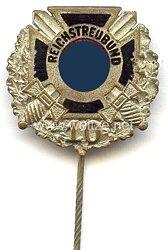 Reichstreubund ehemaliger Berufssoldaten ( RTB ) -silberne Ehrennadel für 10 jährige Mitgliedschaft