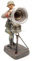 Elastolin - Heer Soldat am elektrischen Scheinwerfer