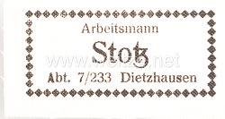 Reichsarbeitsdienst - 10 Etiketten zum einnähen