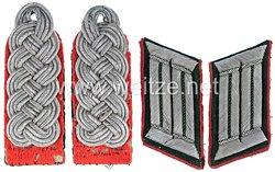 Wehrmacht Heer Paar Schulterstücke und Kragenspiegel für einen Intendanturrat