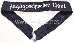 "Luftwaffe Ärmelband ""Jagdgeschwader Udet"" für Offiziere"