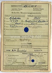 III. Reich - Behelfs-Musterungsausweis